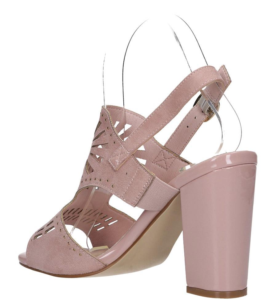 Różowe sandały zabudowane z nitami ażurowe na słupku Sergio Leone SK852 wysokosc_platformy 1 cm