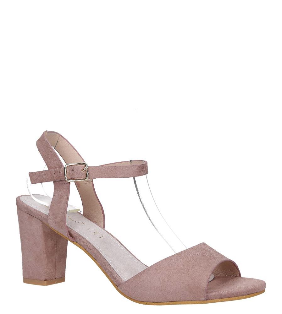 Różowe sandały ze skórzaną wkładką na słupku Casu DD19X3/P model DD19X3/P