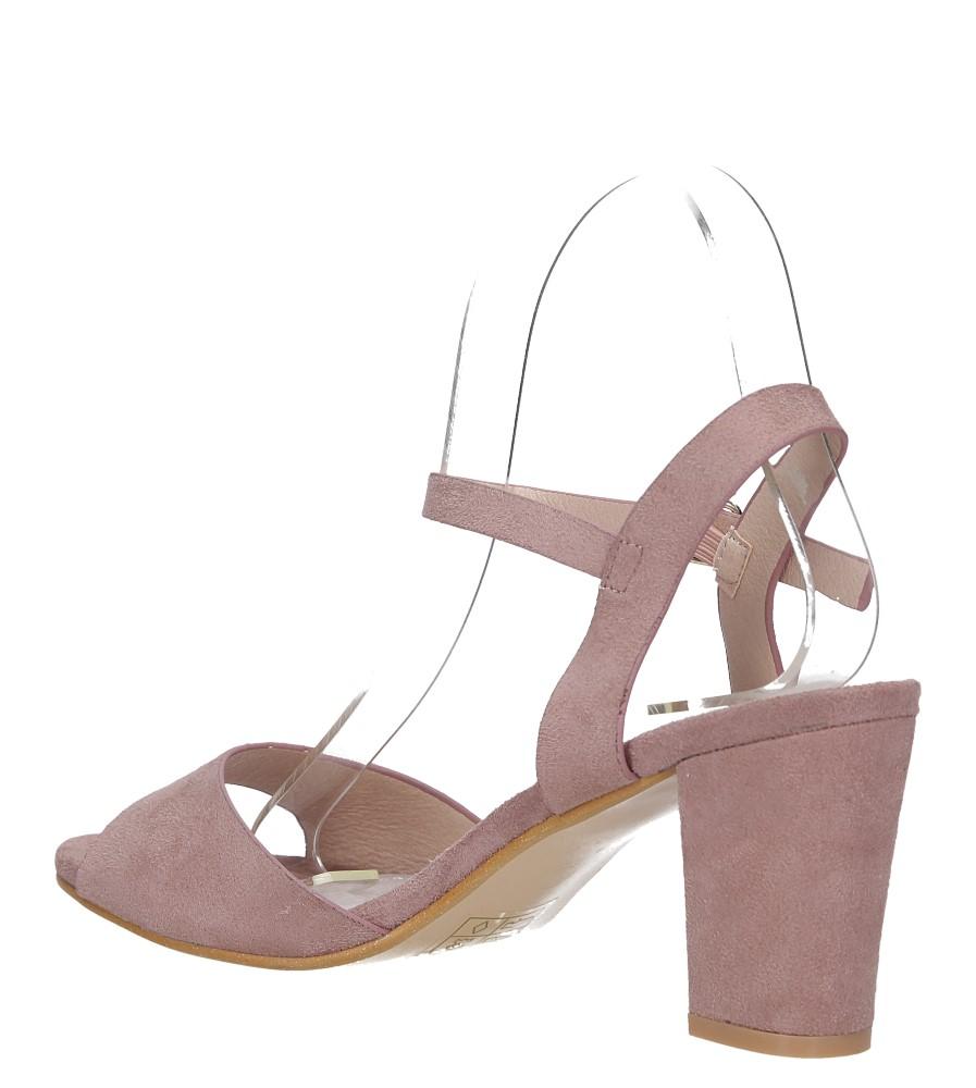 Różowe sandały ze skórzaną wkładką na słupku Casu DD19X3/P wysokosc_obcasa 8 cm