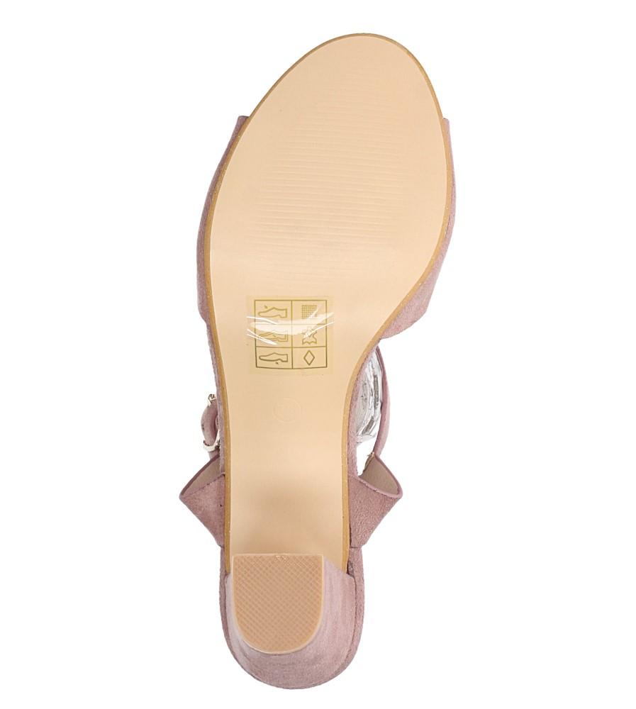 Różowe sandały ze skórzaną wkładką na słupku Casu DD19X3/P wys_calkowita_buta 13.5 cm
