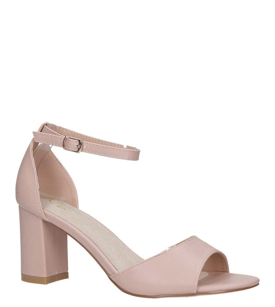 Różowe sandały ze skórzaną wkładką z zakrytą piętą i paskiem wokół kostki Casu N19X4/P model N19X4/P