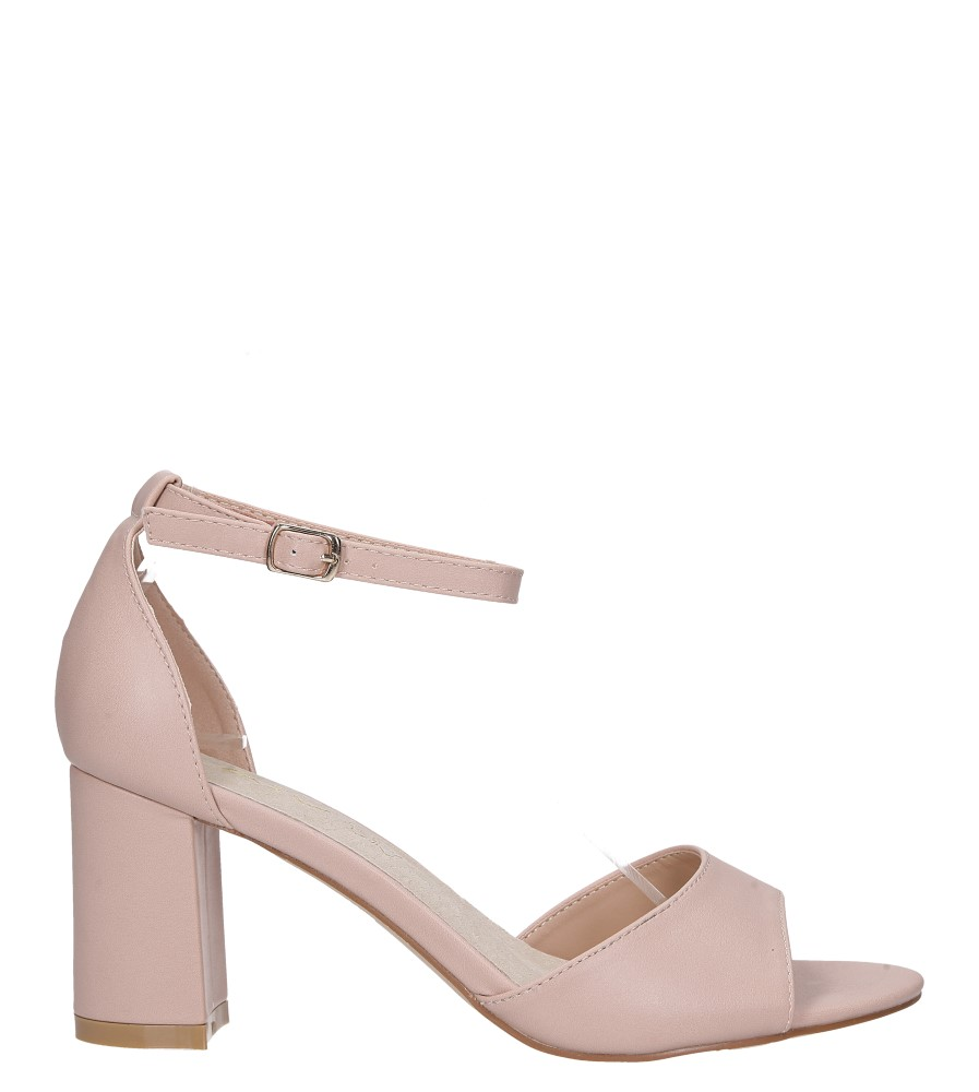 Różowe sandały ze skórzaną wkładką z zakrytą piętą i paskiem wokół kostki Casu N19X4/P wysokosc_platformy 0.5 cm