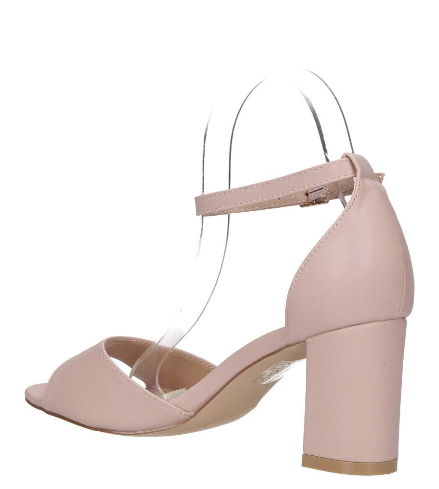 Różowe sandały ze skórzaną wkładką z zakrytą piętą i paskiem wokół kostki Casu N19X4/P wys_calkowita_buta 15 cm