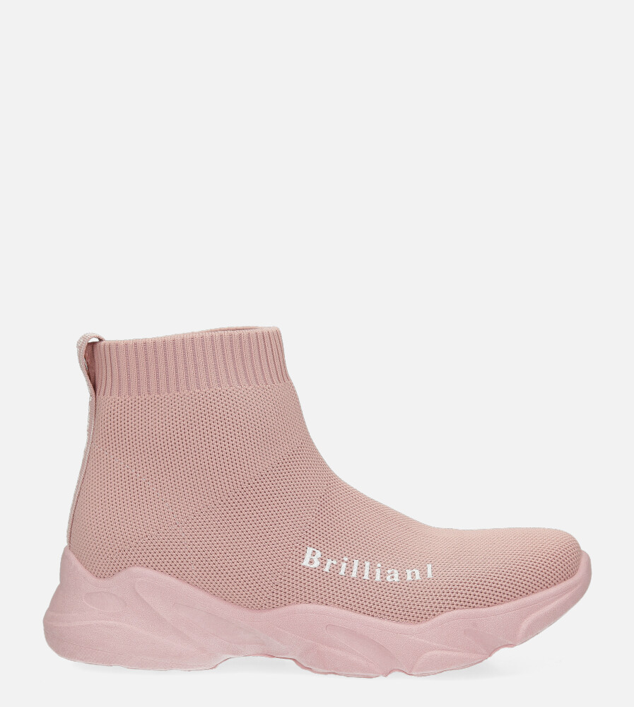 Różowe skarpetkowe buty sportowe Casu 801 różowy