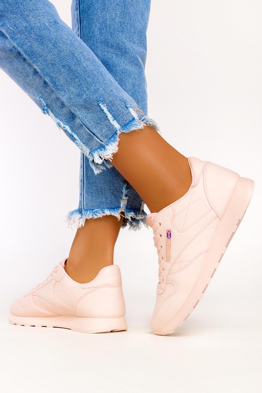 Różowe sneakersy Casu buty sportowe sznurowane 1789-4 różowy