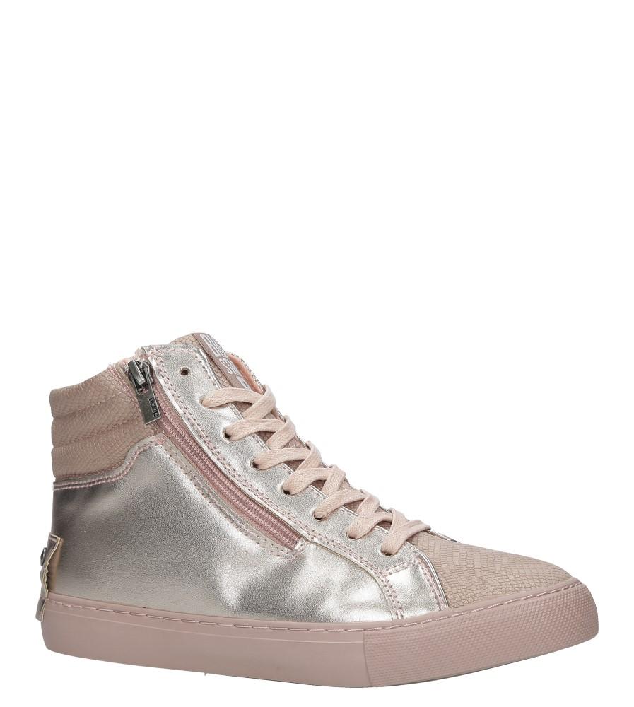 Różowe sneakersy trampki sznurowane z ozdobnym suwakiem Big Star BB274729 producent Big Star