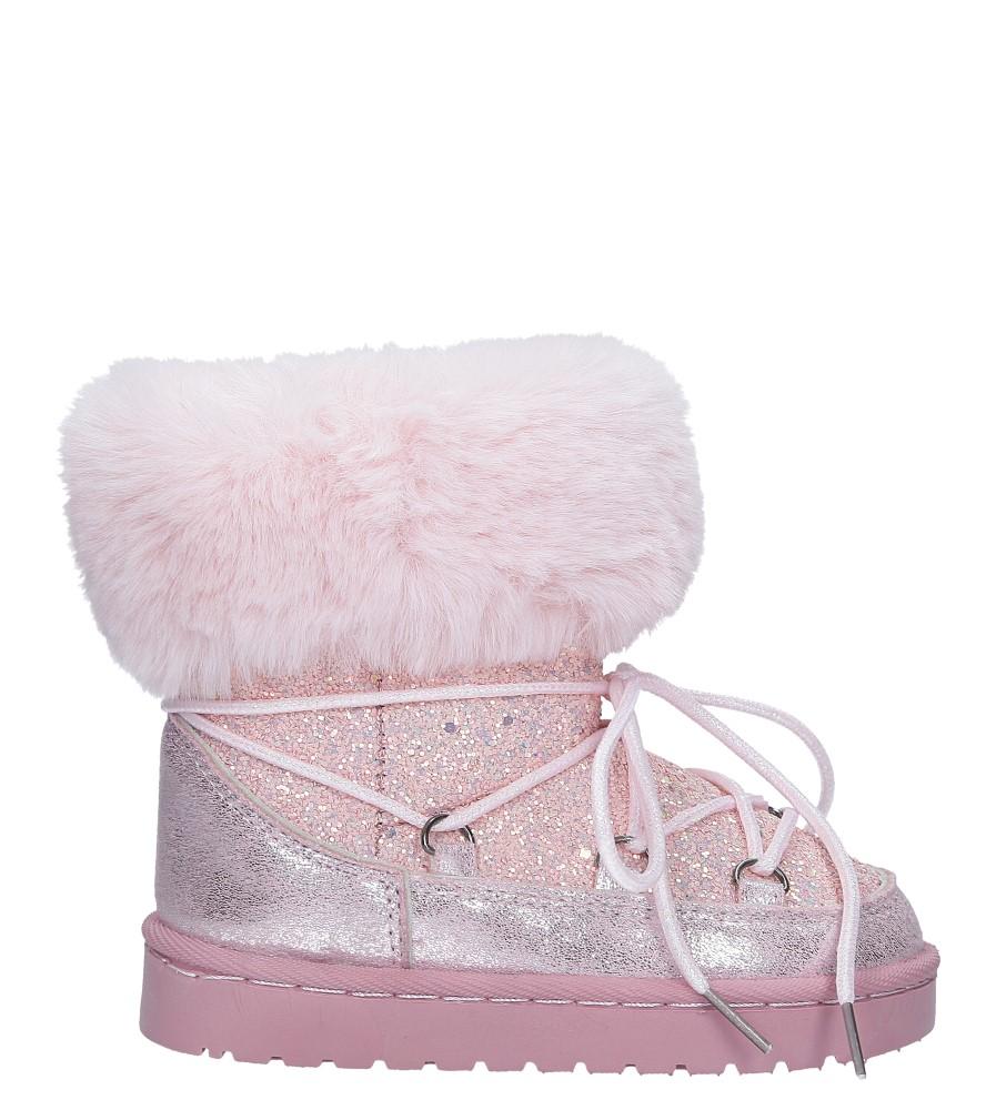 Różowe śniegowce brokatowe z futerkiem Casu 301-73B model 301-73B
