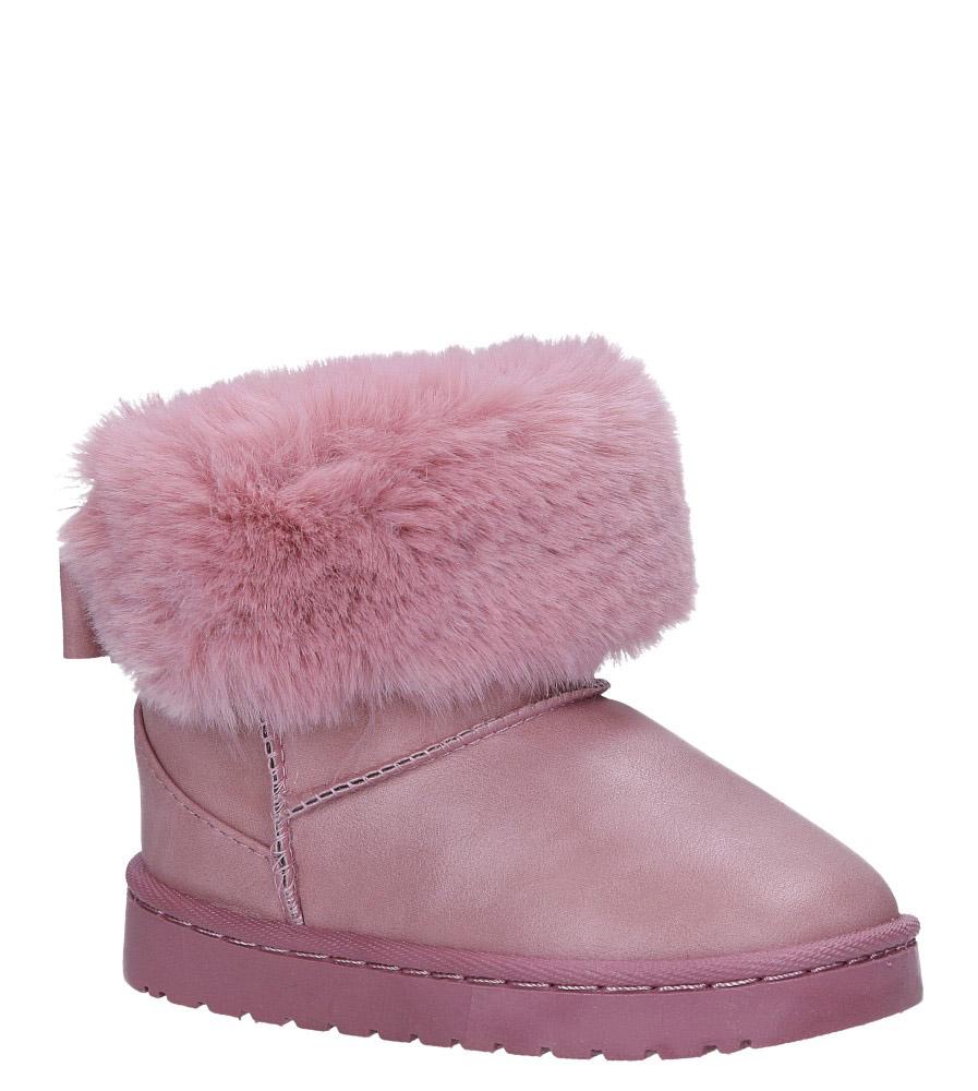 Różowe śniegowce mukluki z futerkiem emu Casu YG-110B