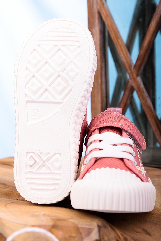 Różowe trampki na rzep Casu 204/29M kolor różowy