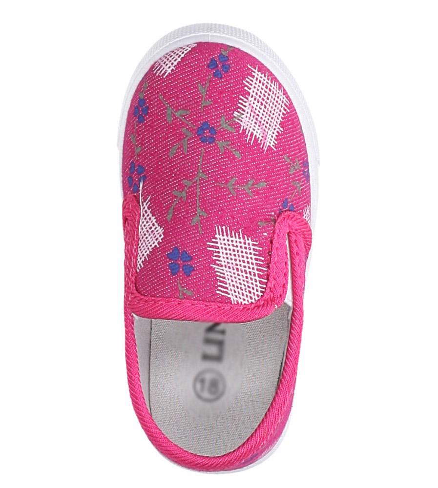 Różowe trampki z gumką Casu B1382 kolor różowy