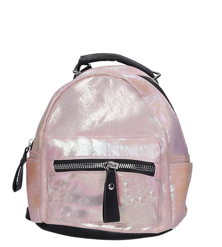 Różowy plecak holograficzny z kieszonką z przodu Casu AE-47 model AE-47