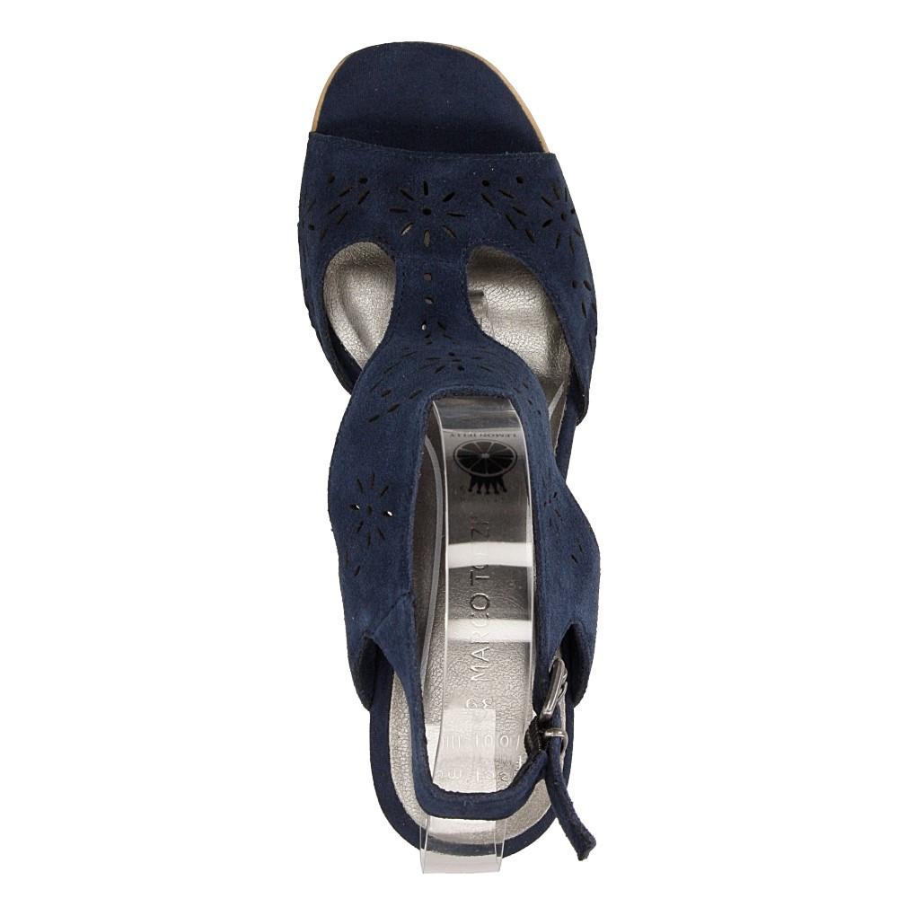 Sandały ażurowe Marco Tozzi 2-28354-28 wierzch skóra naturalna - welur