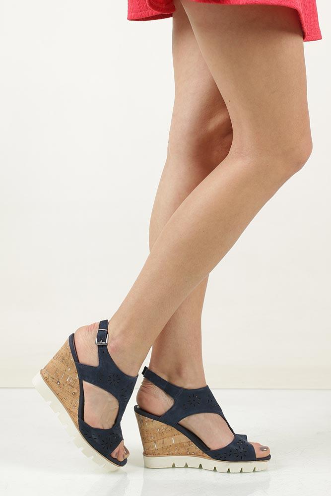Sandały ażurowe Marco Tozzi 2-28354-28 nosek_buta otwarty