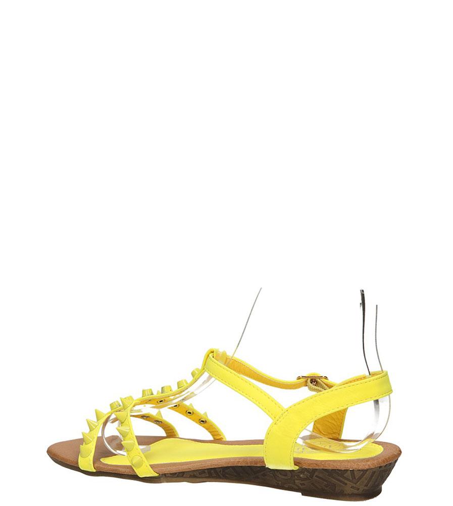 SANDAŁY CASU 6713-8 kolor żółty