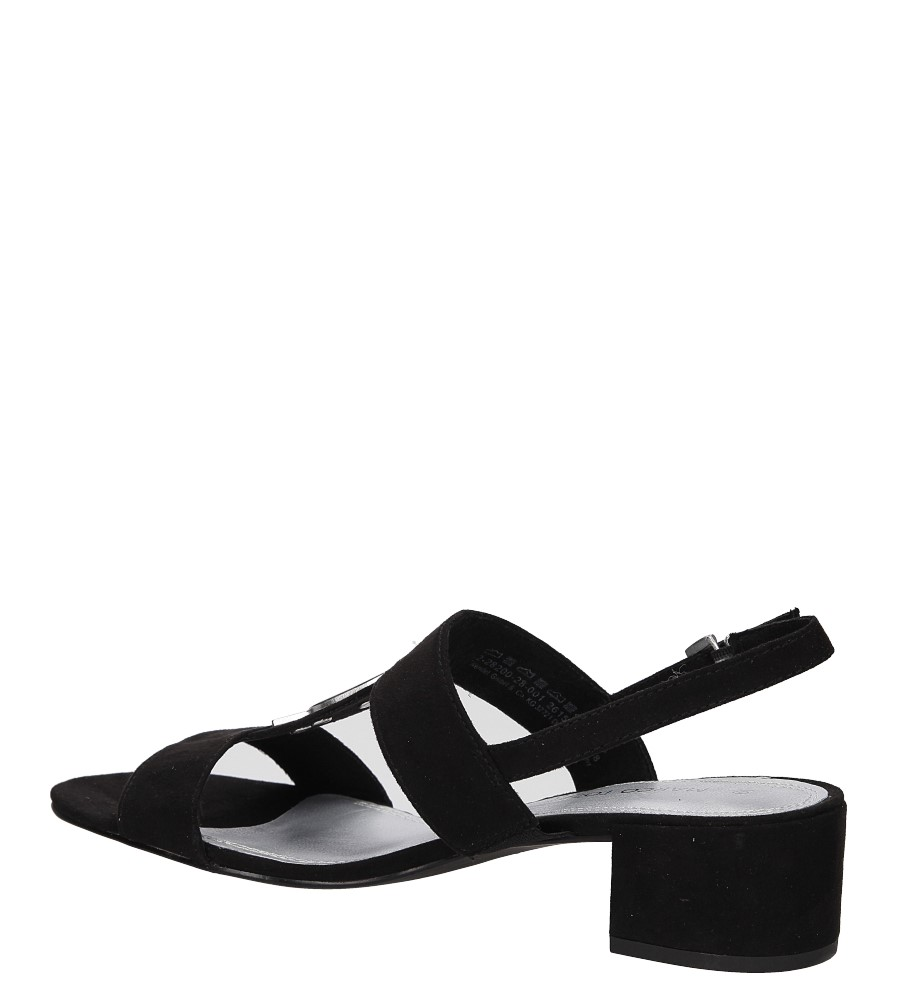 Sandały czarne Marco Tozzi 2-28200-28 wysokosc_obcasa 4.5 cm