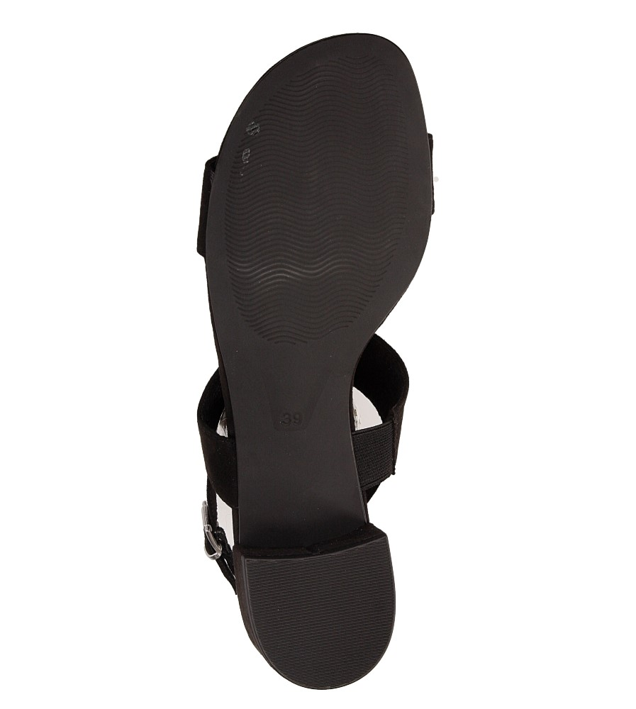 Sandały czarne Marco Tozzi 2-28200-28 wierzch materiał
