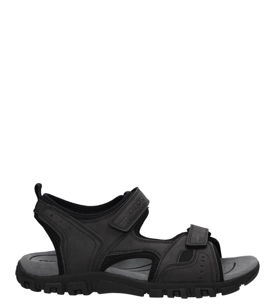 Męskie Sandały czarne na rzepy Geox U422A 000BC czarny;;