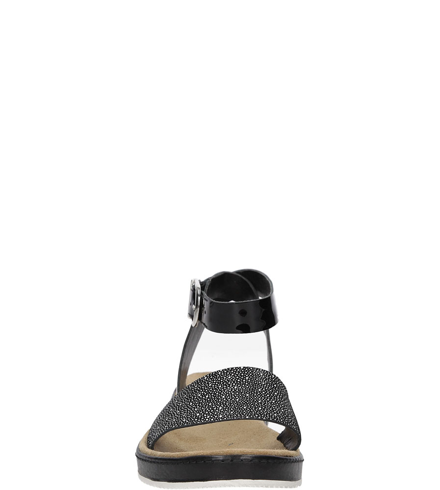 Sandały czarne skórzane Clarks Romantic Moon 2612414 kolor biały, czarny