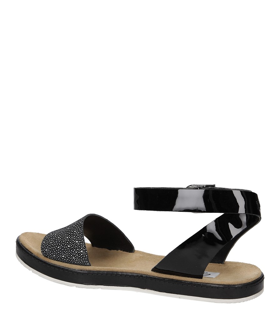 Sandały czarne skórzane Clarks Romantic Moon 2612414 wysokosc_platformy 2 cm