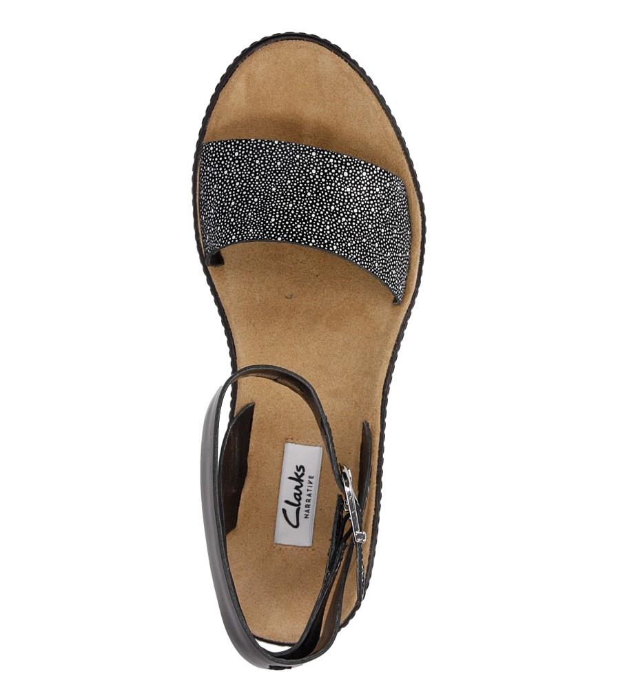 Sandały czarne skórzane Clarks Romantic Moon 2612414 wys_calkowita_buta 9.5 cm
