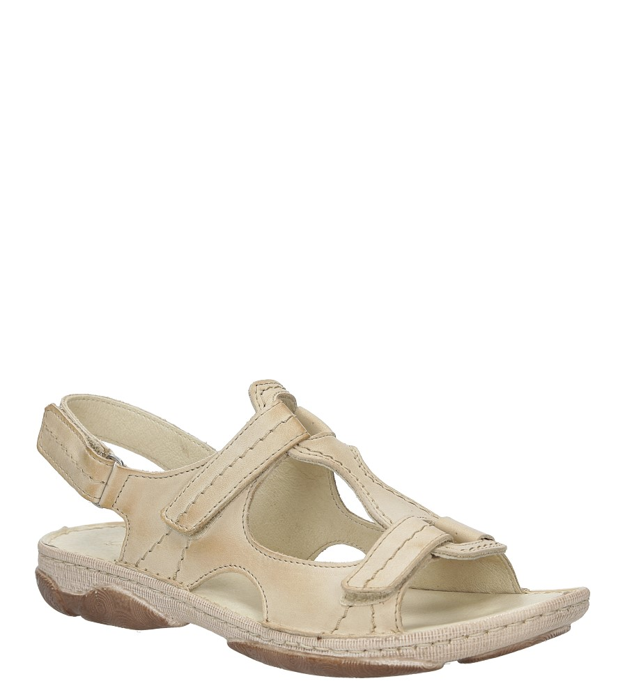 Damskie Sandały Gino Fabiani 656/1 beżowy;;