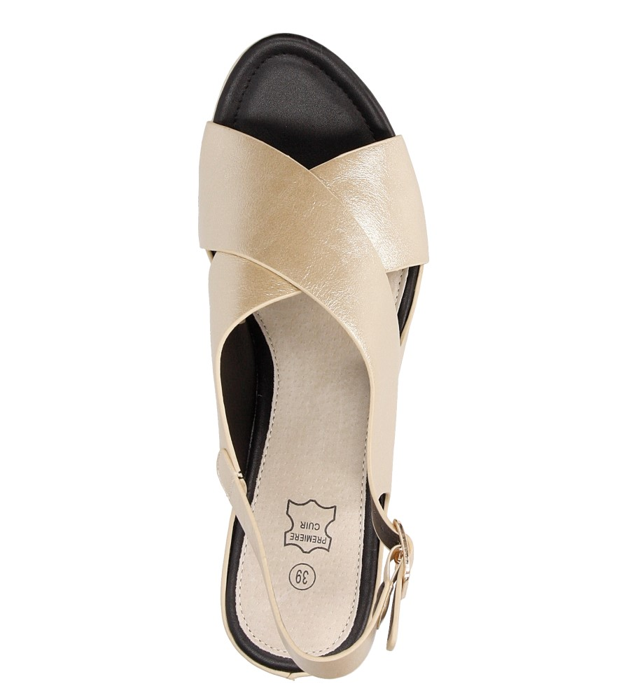 Sandały na koturnie Casu LS06709P ksztalt_obcasa koturn