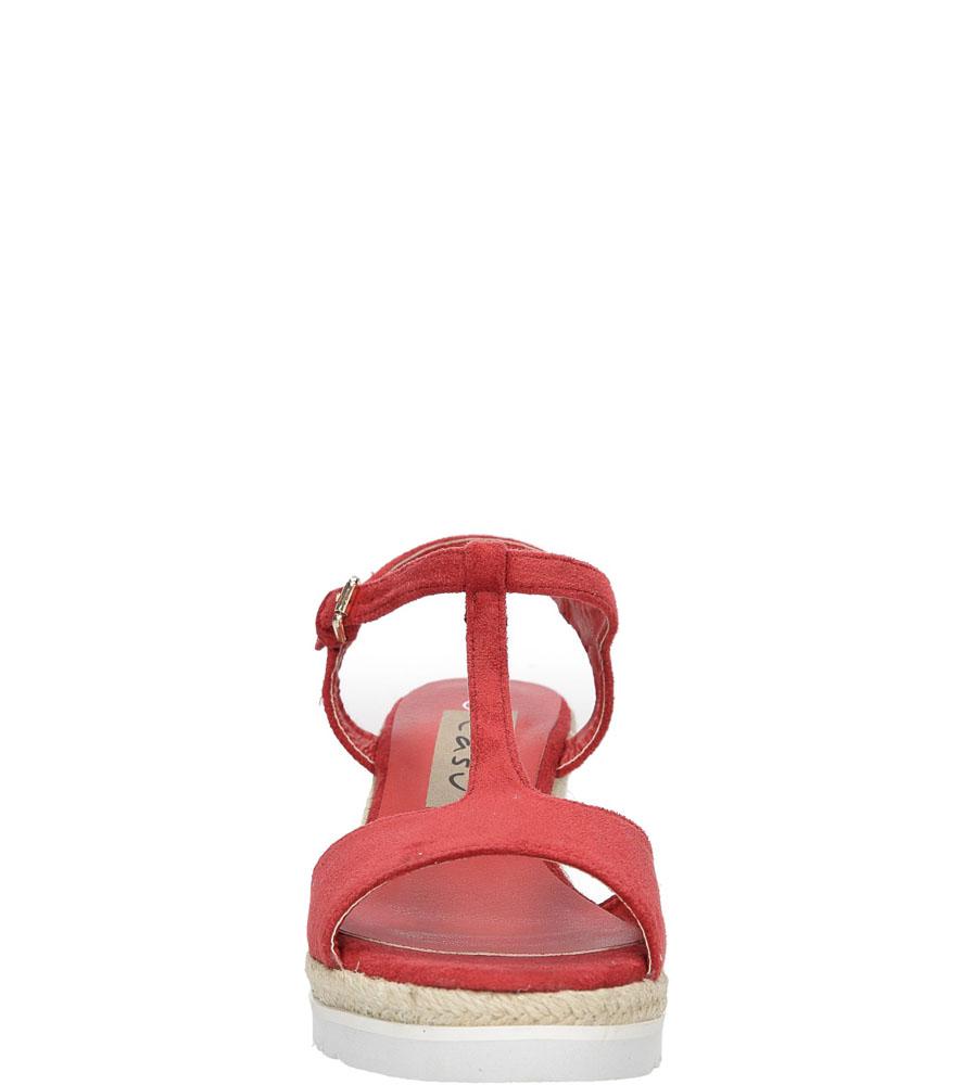 Sandały na koturnie Casu LS55710P wierzch materiał