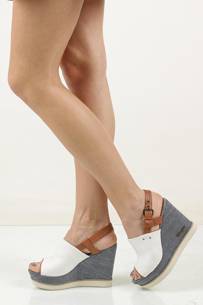 Sandały na koturnie Wrangler Kelly Indygo WL171683