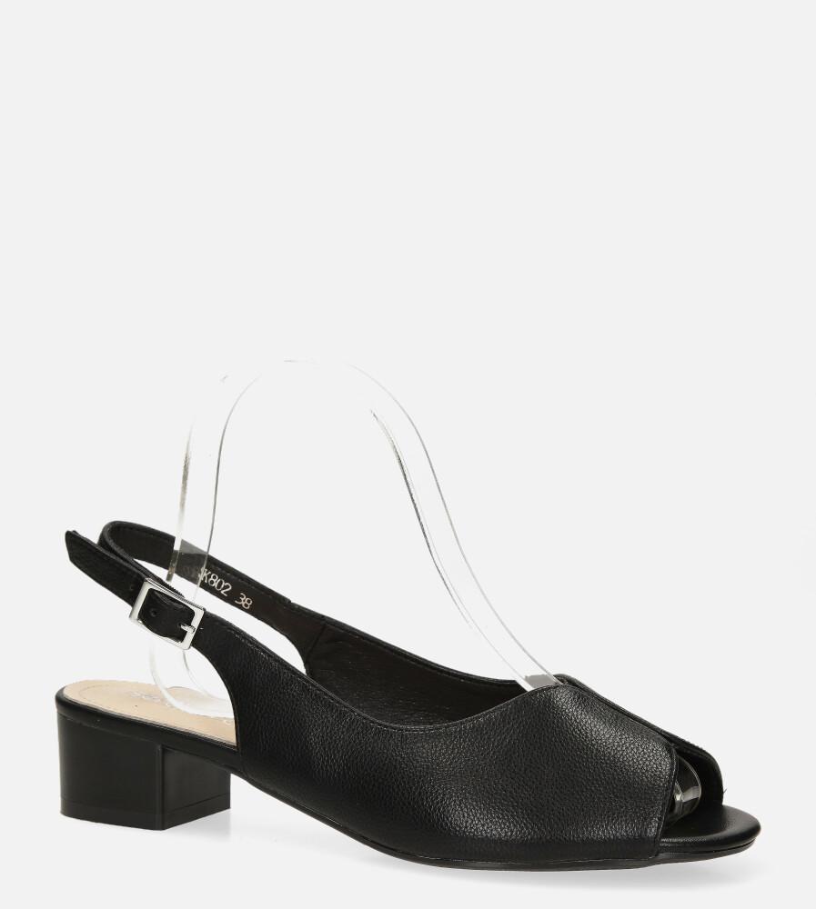 Sandały Sergio Leone na słupku czarne SK802 czarny
