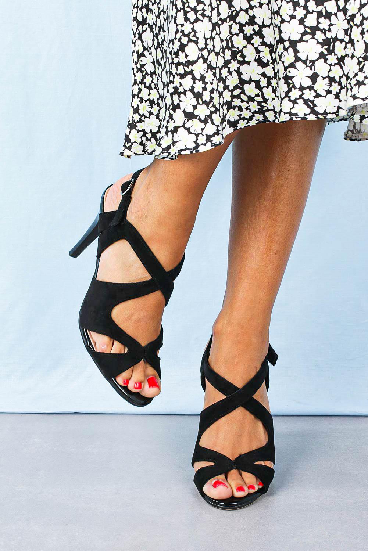 Sandały Sergio Leone szpilki czarne SK427 czarny