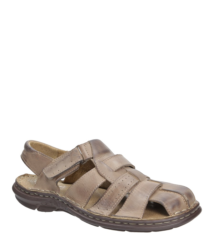 Sandały skórzane na rzep Casu 211 producent Casu