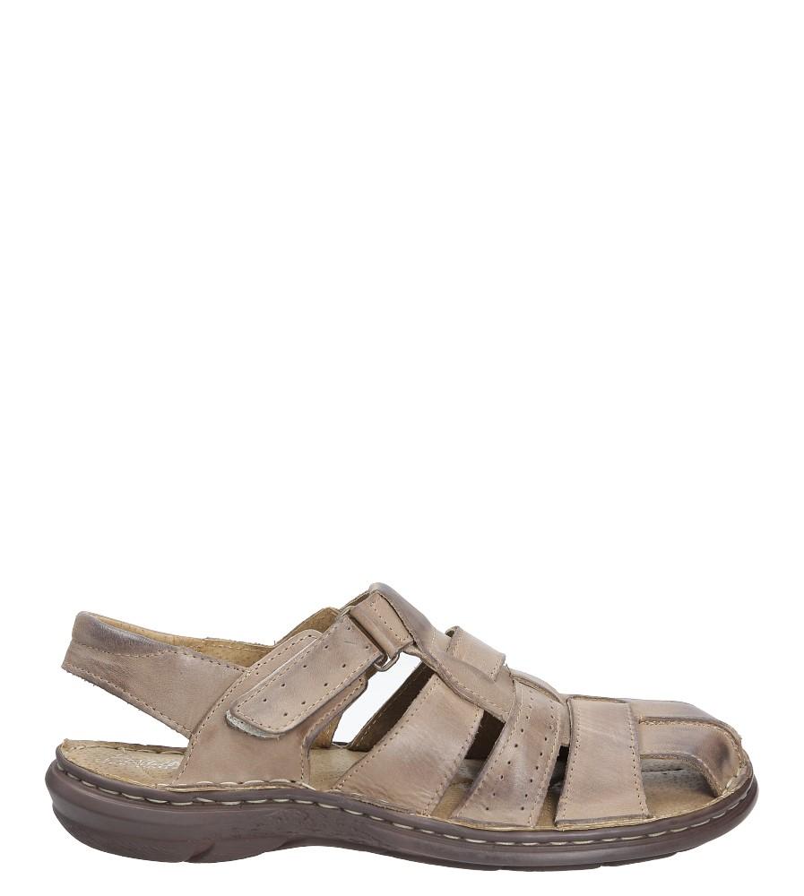 Sandały skórzane na rzep Casu 211