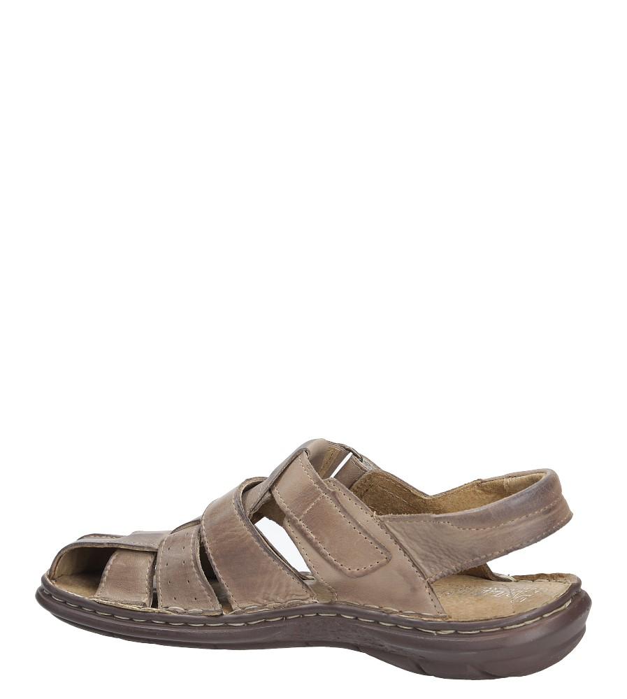 Sandały skórzane na rzep Casu 211 kolor brązowy