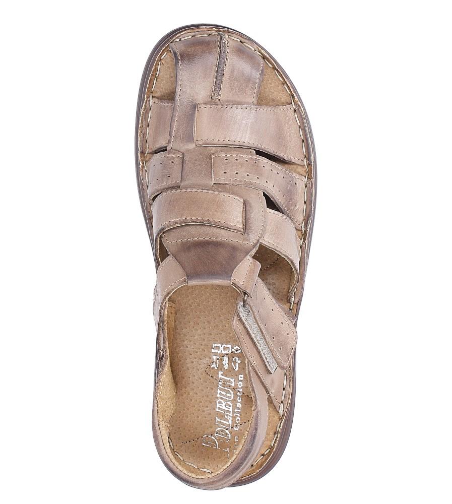 Sandały skórzane na rzep Casu 211 wys_calkowita_buta 15 cm