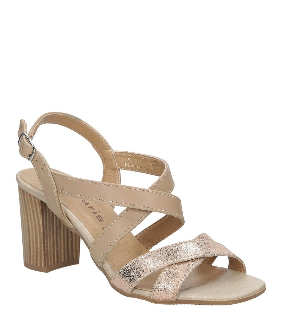 Sandały skórzane na słupku Tamaris 1-28011-38 producent Tamaris
