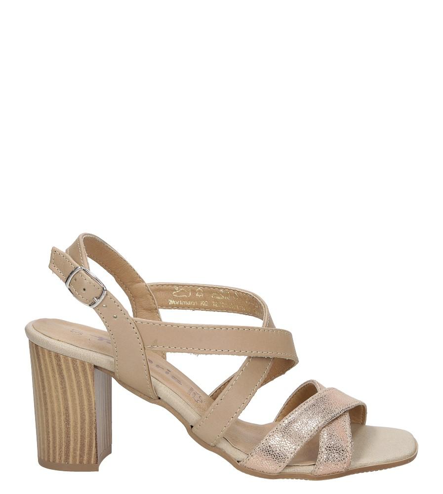 Sandały skórzane na słupku Tamaris 1-28011-38 wysokosc_obcasa 8 cm