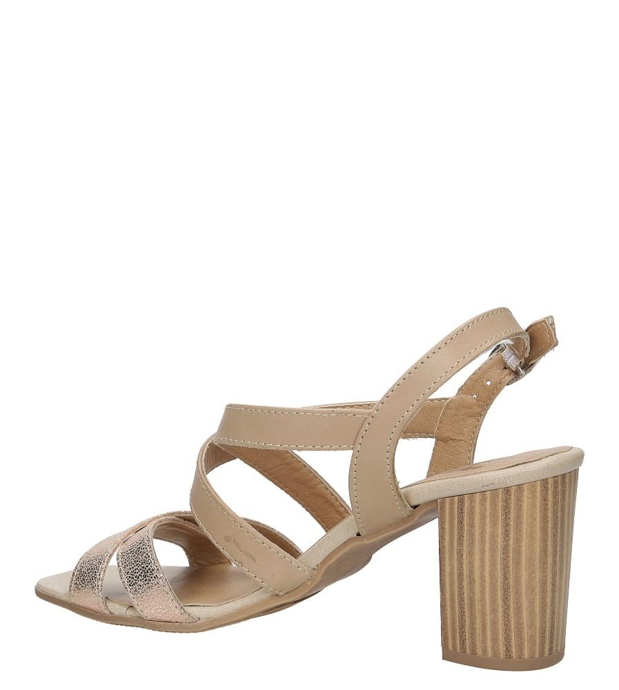 Sandały skórzane na słupku Tamaris 1-28011-38 wkladka skóra ekologiczna