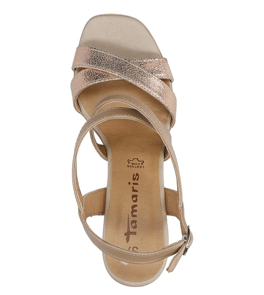 Sandały skórzane na słupku Tamaris 1-28011-38 nosek_buta otwarty