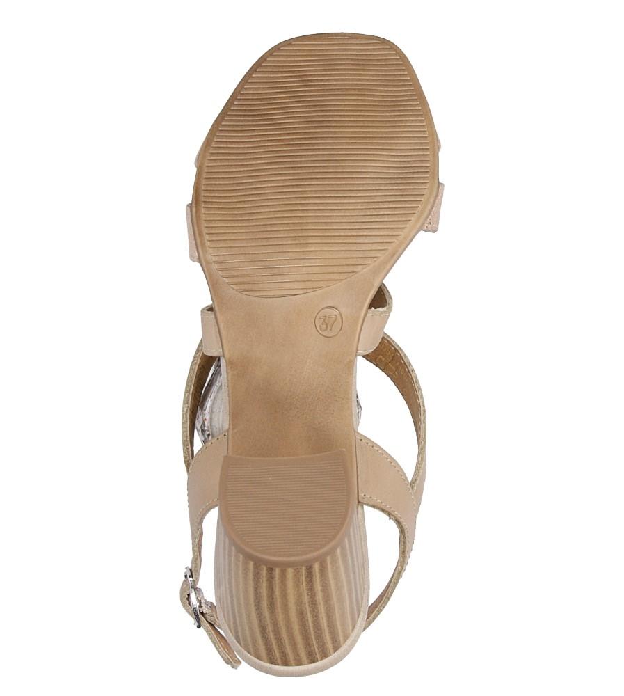 Sandały skórzane na słupku Tamaris 1-28011-38 zapiencie rzemyk