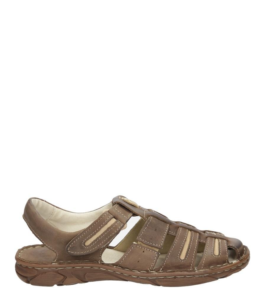 Męskie Sandały skórzane Windssor 230 brązowy;;