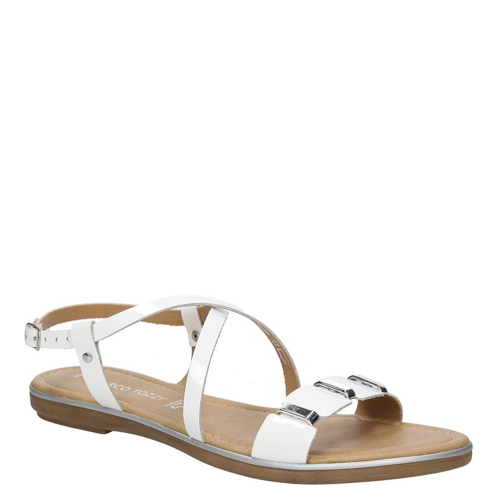 Sandały skórzane z ozdobami Marco Tozzi 2-28141-28 producent Marco Tozzi