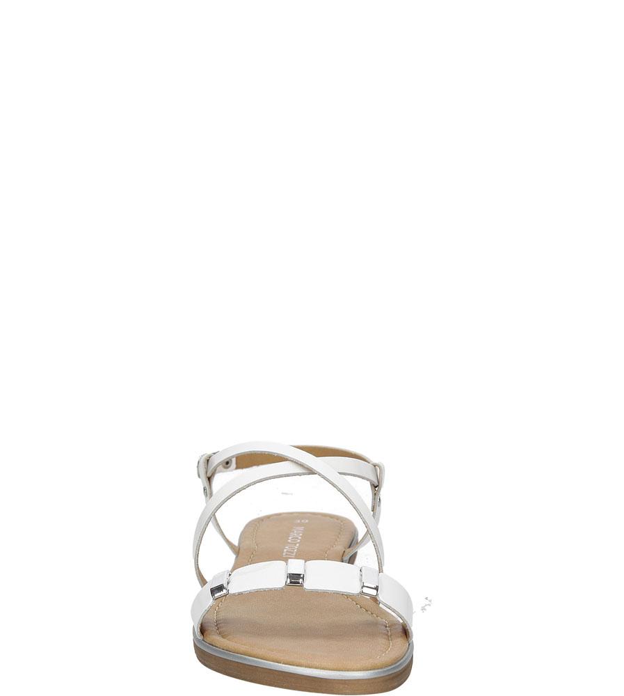 Sandały skórzane z ozdobami Marco Tozzi 2-28141-28 kolor biały