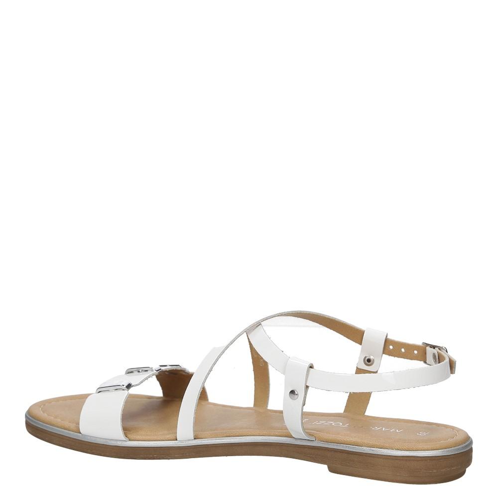 Sandały skórzane z ozdobami Marco Tozzi 2-28141-28 wysokosc_obcasa 2 cm