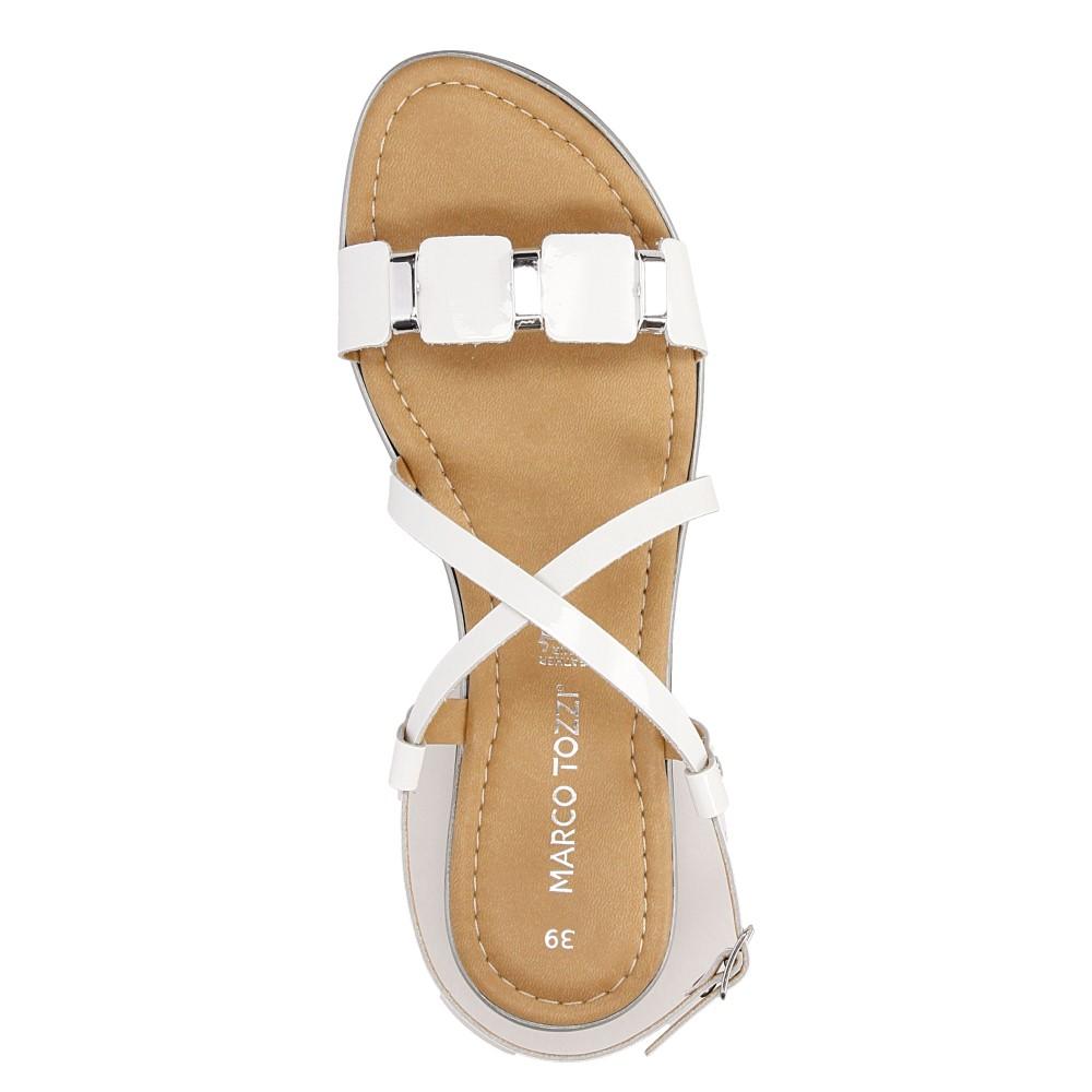 Sandały skórzane z ozdobami Marco Tozzi 2-28141-28 wysokosc_platformy 1 cm