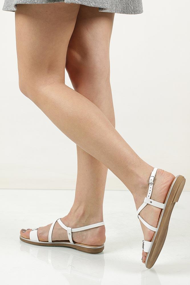 Sandały skórzane z ozdobami Marco Tozzi 2-28141-28 wnetrze skóra ekologiczna