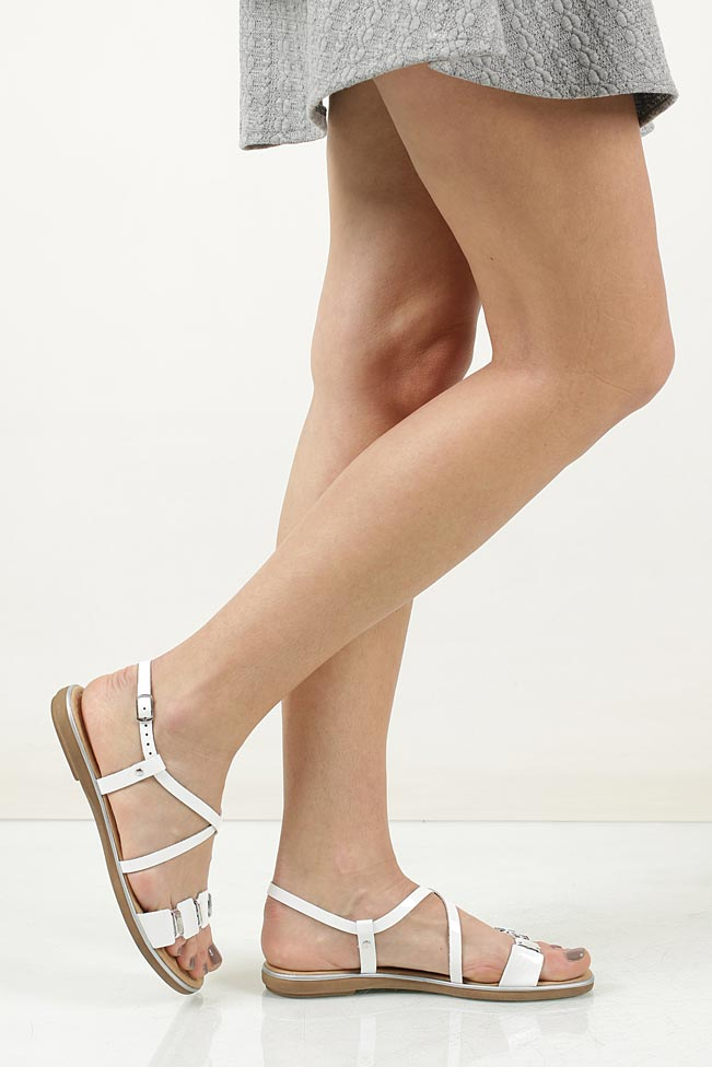 Sandały skórzane z ozdobami Marco Tozzi 2-28141-28 wkladka skóra ekologiczna