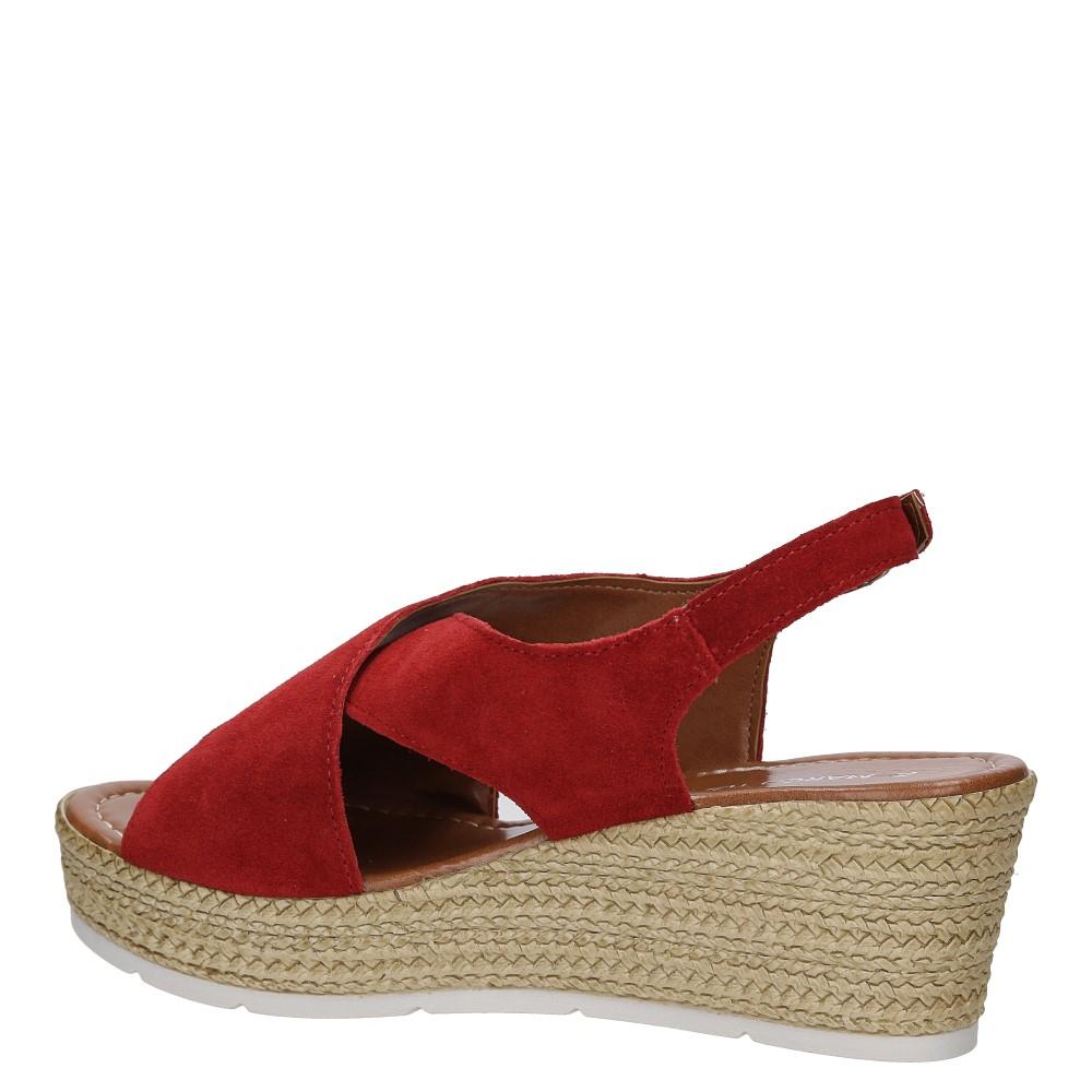 Sandały welurowe na koturnie Marco Tozzi 2-28362-28 wysokosc_obcasa 7 cm