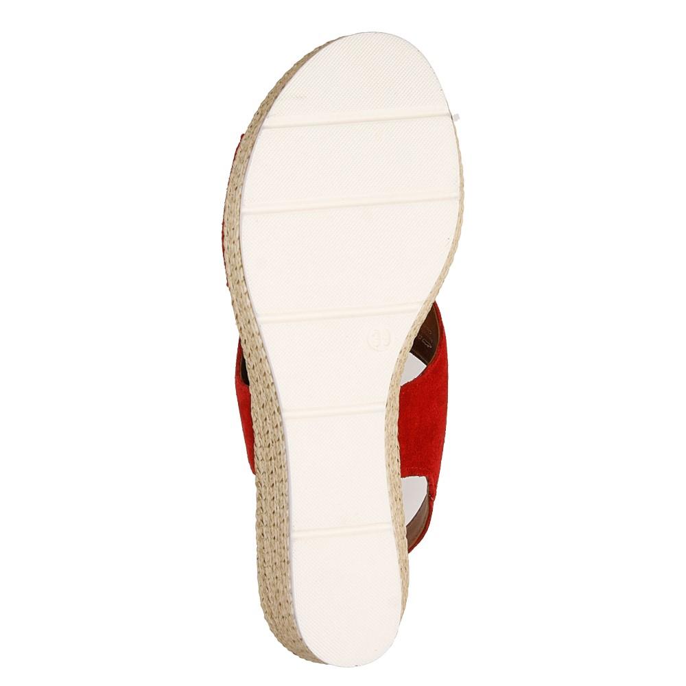 Sandały welurowe na koturnie Marco Tozzi 2-28362-28 wys_calkowita_buta 13 cm