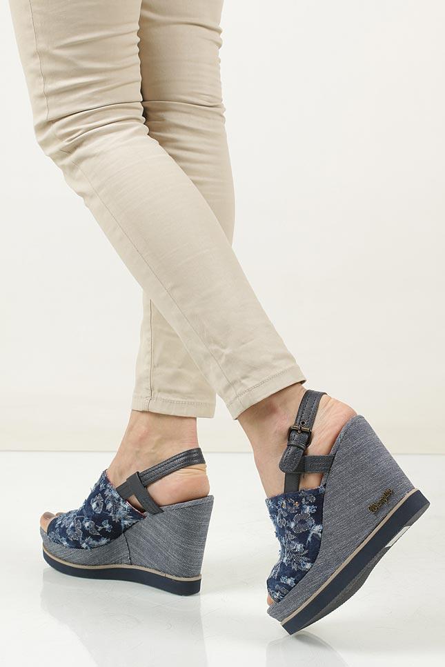Sandały Wrangler Kelly Indigo WL171683 kolor niebieski