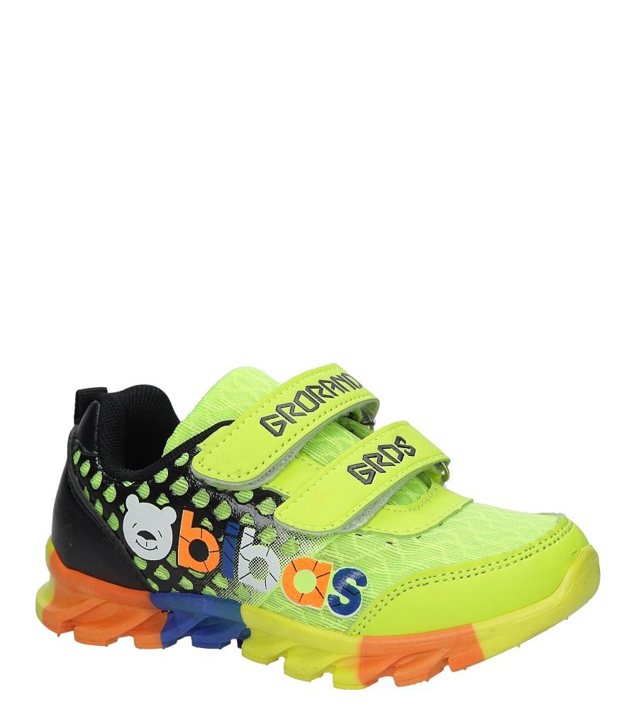 Seledynowe buty sportowe na rzepy Casu 3-6001-1